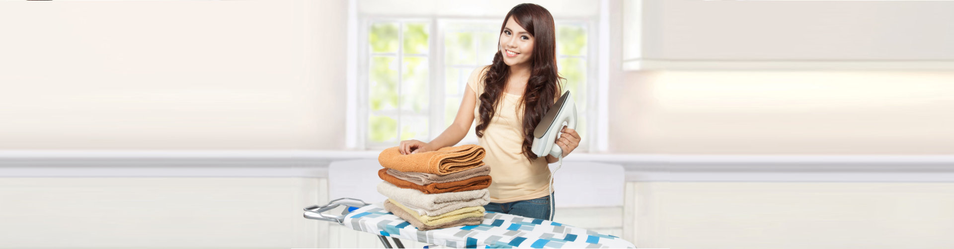 woman ironing cloths